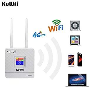 KuWFi Modem WiFi 4G, Router 4G LTE CPE Doppie antenne ...
